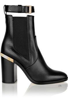 Reed Krakoff gold-trimmed leather ankle boot | Purely Inspiration
