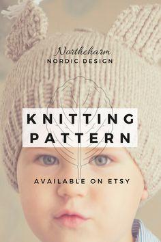 afddf6588fc NEW    KNITTING PATTERN  Kids squirrel hat   Kids Winter hat   Kids hat  pattern   Kids wool hat   Simple knitted kids hat