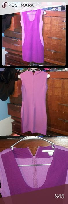 Fucia/light purple mini dress Diane von frustenberg mini dress fucia/light purple size 0.  Excellent condition Diane Von Furstenberg Dresses Mini