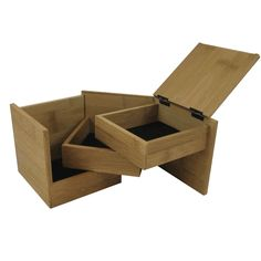 This discreet bamboo box is perfect for storing little treasures. Use as a jewelry box, a desk bo...