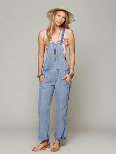 Free People LA Washed Overall, AU155.13