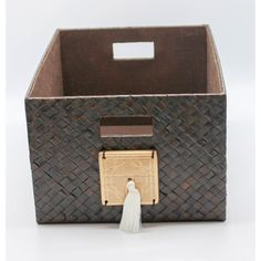 Chinoiserie Storage Box - Small, Brown