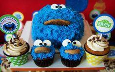 Elmo cake/cupcakes