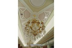 Lot 661 - French bronze and crystal chandelier 1250mm drop
