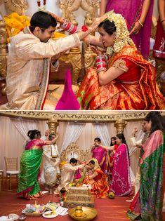 Indian Wedding Photography by www.MnMfoto.com. South Indian Telugu wedding ceremony rituals.