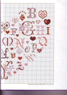 Alphabet cœur 2. &&