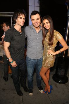 Ian Somerhalder, Seth MacFarlane, and Nina Dobrev attending the Maxim, FX and Fox Home Entertainment Comic-Con Party at Andaz