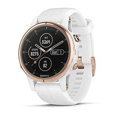 Garmin fēnix Plus Smaller-Sized Multisport GPS Smartwatch Features Color TOPO Maps Heart Rate Monitoring Music and Garmin Pay White/Rose Gold 5 Elements, Android Watch, Swiss Army Watches, Wearable Device, Gps Tracking, Sport Watches, Nice Watches, Elegant Watches, Workout Plans