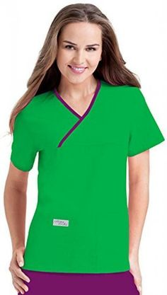 622e8477f3c Urbane Scrubs 9534 Women's Double Pocket Crossover Top Lucky Green/Concord  X-S #fashion #clothing #shoes #accessories #uniformsworkclothing #scrubs  (ebay ...