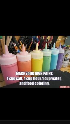 The best DIY projects & DIY ideas and tutorials: sewing, paper craft, DIY. Ideas About DIY Life Hacks & Crafts 2017 / 2018 Make Your Own Paint diy diy ideas easy diy kids crafts interesting tips life hacks life hack crafts for Do It Yourself Fashion, Do It Yourself Home, Crafts For Teens To Make, Crafts To Do, Fun Things To Make For Teens, Diy Room Decor For Teens Easy, Puffy Paint Crafts, Diy Kids Paint, Baby Crafts