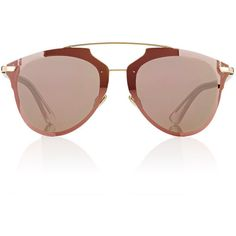 "Dior Women's ""Dior Reflected P\"" Sunglasses featuring polyvore, women's fashion, accessories, eyewear, sunglasses, no color, christian dior glasses, etched glasses, christian dior, christian dior sunglasses and logo sunglasses"