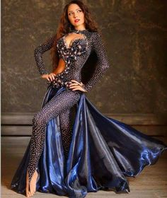 navy dance dress