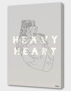 """""""Heavy Heart"""", Numbered Edition Canvas Print by Koning - From $69.00 - Curioos"""