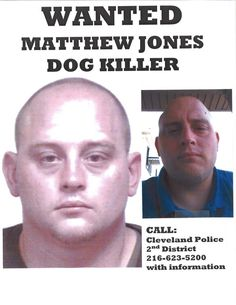 PARMA OHIO - DOG KILLER UPDATE:  Matthew Jones ---He's still out there hiding, with his mommy in Parma. He       WANTED for the killing of a dog with a bow & arrow  drives a Black Ford Ranger, Lic. DVS 7980.