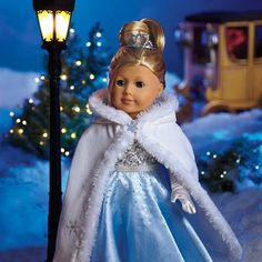 American Girl - Merry Bright Gown Set 2013 gown, cape, gloves, belt, shoes, tiara $72