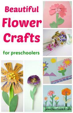 Beautiful Flower Crafts for Preschoolers Kindergarten Crafts, Preschool Crafts, Kids Crafts, Butterfly Crafts, Flower Crafts, Valentine Crafts, Holiday Crafts, Craft Projects For Kids, Craft Ideas