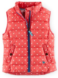 Coral puffy vest