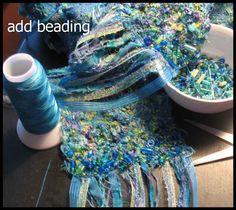 fabulous fiber scarf with bead embellishments