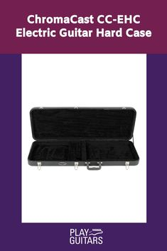 This ChromaCast hard case is designed to protect your instrument and keep it sounding its best! Durable wood construction features plush lined interior with extra neck and bridge padding for full support. Sturdy chrome latches and bumpers on bottom and sides of case add protection and stability. #guitarcase #guitarcasehardshell