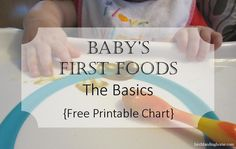 Starting solids is a huge step, especially for first-time parents like us. So many questions, so many rules, so much to keep track of in the beginning! Here we thought we'd share some of the basics, our go-to resources, and a handy chart to keep track of your baby's first foods. Most pediatricians recommend starting solids between 4-6 months of age (closer to 6 months is best). Baby must be able to hold their head independently and ideally the baby has also started to show an inte...