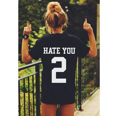 HATE YOU 2 t-shirt tee unisex mens womens hipster swag dope tumblr pinterest instagram blogger *brand new by freesbeeClothing on Etsy https://www.etsy.com/listing/208776349/hate-you-2-t-shirt-tee-unisex-mens