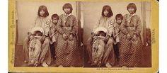 Paiute women and children