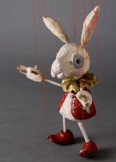White Rabbit Marionette http://www.thewhiterabbit.com #thewhiterabbit #aliceinwonderland