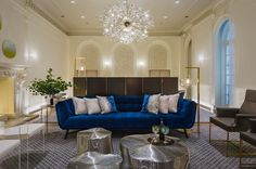 Roche Bobois furniture in an interior by Groves and Co at Holiday House NYC 2017 | Roche Bobois