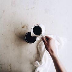 """Morning coffee. #livesimple Happy Monday!"""