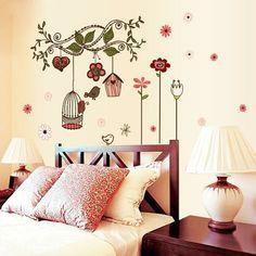 como decorar una habitacion con flores para la pared