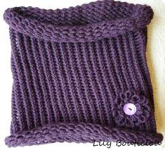 Snood au tricotin rond * Loom-knitting