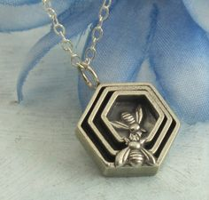 Honeycomb Necklace  in sterling silver by by KathrynRiechert, $62.00