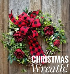 New Fall and Christmas wreaths are hitting my shop now! Buffalo Check is gonna be big again his year but, I will only have a limited supply of the ribbon so get yours ordered ASAP! Rustic Christmas, Christmas Home, Christmas Crafts, Christmas Decorations, Xmas, Christmas Ideas, Plaid Christmas, Christmas Music, Christmas Movies