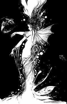 Exquisite mermaid, Yoshitaka Amano
