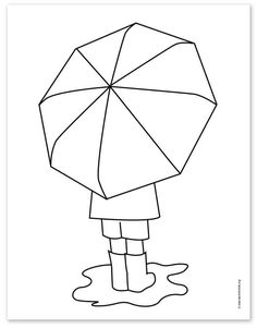 How to Draw an Umbrella · Art Projects for Kids Class Art Projects, Spring Art Projects, Projects For Kids, Autumn Art, Winter Art, Art Drawings For Kids, Art For Kids, 2nd Grade Art, Umbrella Art