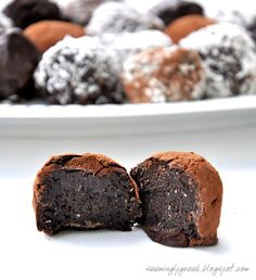 Nutella Oreo Truffles. I would definitely need to add more Nutella to mine but these sound amazing!