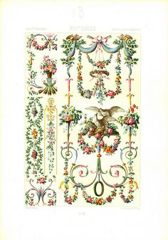Racinet's 18th century illustration of design motifs