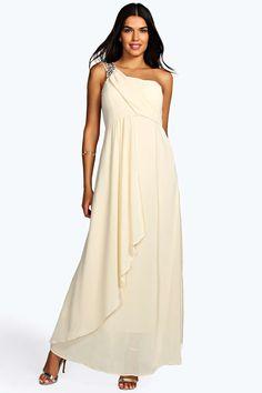 Tessie Embellished One Shoulder Maxi Dress - Robes de Bal - Robes - Vêtements Femme