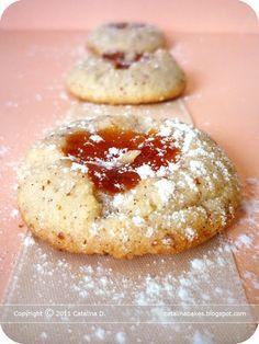 """Catalina pece: Meruňkové mandlové """"palcové"""" sušenky"""