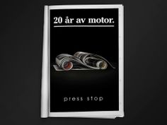 """""""20 years of motoring."""" If you love magazines. //Ad campaign by Sweet Creatives"""