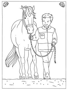 coloring page Horses on Kids-n-Fun. Coloring pages of Horses on Kids-n-Fun. More than coloring pages. At Kids-n-Fun you will always find the nicest coloring pages first! Farm Animal Coloring Pages, Cool Coloring Pages, Adult Coloring Pages, Coloring Books, Coloring Sheets, Kindergarten Coloring Pages, Horse Camp, Horse Crafts, Horse Drawings