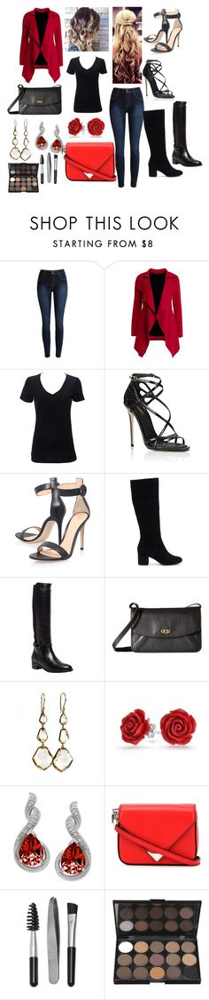 """""""Red and Black"""" by alindsey2021 on Polyvore featuring Dolce&Gabbana, Gianvito Rossi, Sole Society, Aquatalia by Marvin K., UGG, Ippolita, Bling Jewelry, Alexander Wang and Sephora Collection"""