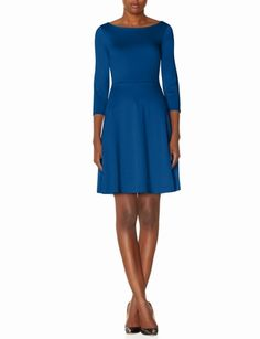 Ponte Skater Dress from THELIMITED.com Currently on sale for $40.00 Hugs all the right places and flares to cover those hips and booty for those of us who have one. Love blue and with or without the belt to coordinate with shoes is ideal.