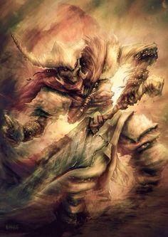 Onos T'oolan, Malazan: Book of the Fallen series. Art from http://trakethetigerofsummer.tumblr.com