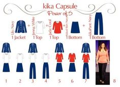 These 5 pieces mix-and-match to create 8 outfitsFor more information on KikaPaprika clothing contact amydaguanno@kikapaprika.com