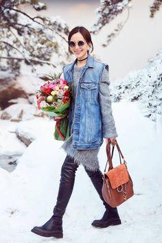 江一燕的圣诞穿搭 这只Faye Backpack(来自Chloe)实在是太太太美啦! from @jiangxiaopa's closet