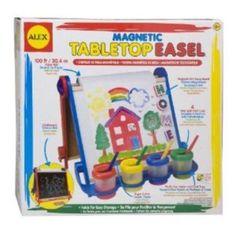 Alex Toys Artist Studio Magnetic Tabletop Easel Wood, Multicolor