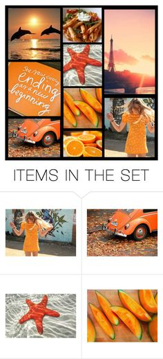 """set about color....#5 orange"" by heartandsoul ❤ liked on Polyvore featuring art"