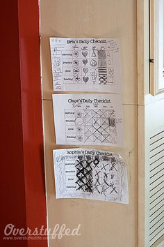 Daily chore checklists by lalakme, via Flickr