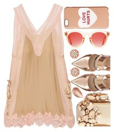 """Mini-dress"" by sunnydays4everkh ❤ liked on Polyvore featuring Chloé, Marc Jacobs, BillyTheTree, Jimmy Choo and Jouer"